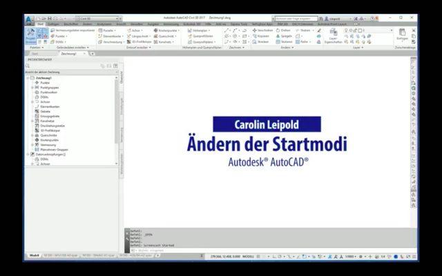 Ändern des Startmodi - STARTMODE - Autodesk® AutoCAD® - CADsys