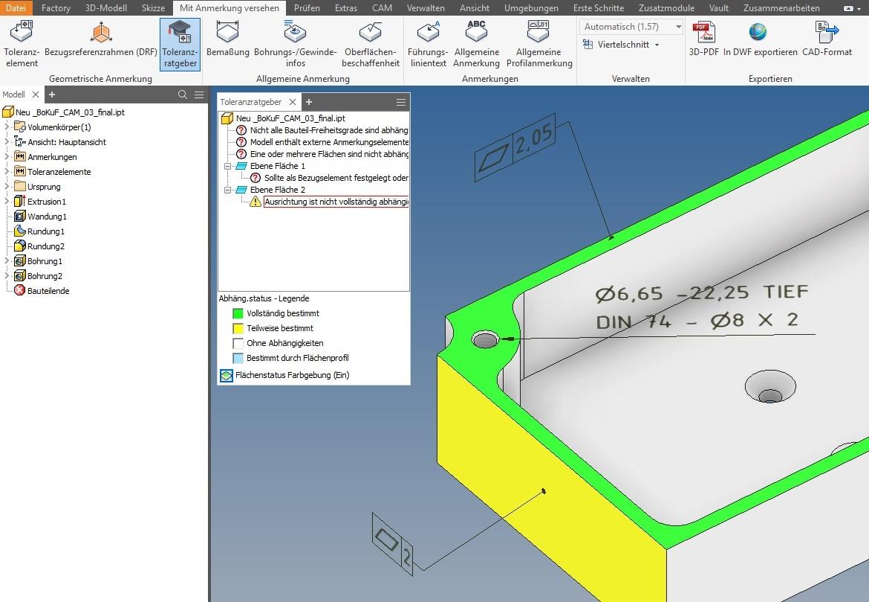 Neuerungen Inventor 2019 - Modellbasierte-Definition_3D-Bemassung
