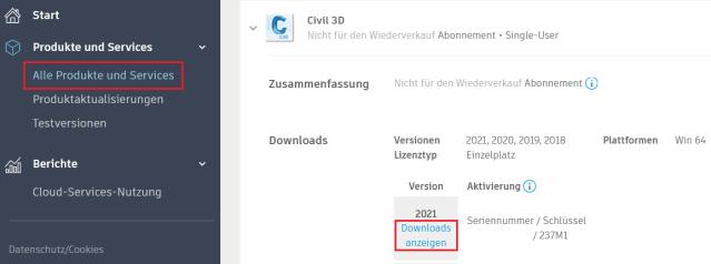Civil 3D 2021.1