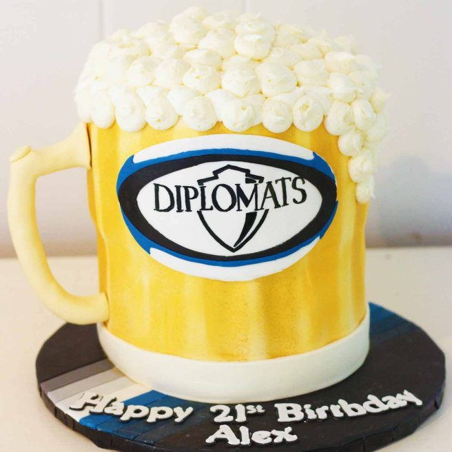 4061 Beer Stein Shaped Cake (1)
