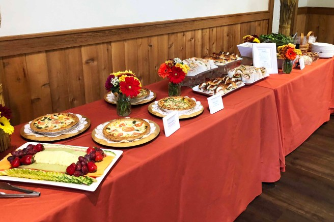 schooley's mountain lodge bridal shower brunch by pierrot catering in nj