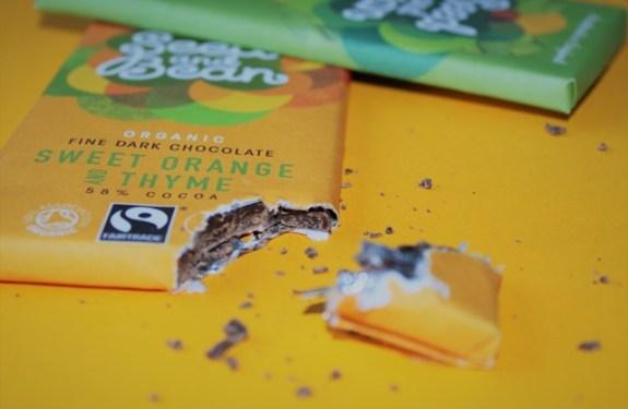 Czekolada Seed and Bean Pomarańczowo Tymiankowa - tak dobra, że nie zdążyliśmy odpakować :)