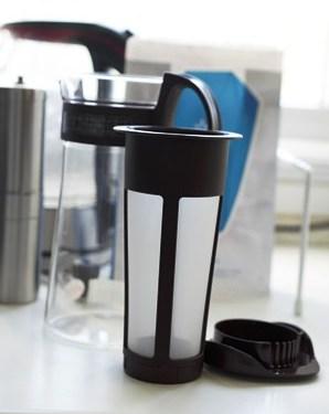 Mizudashi Coffee Pot w częściach.