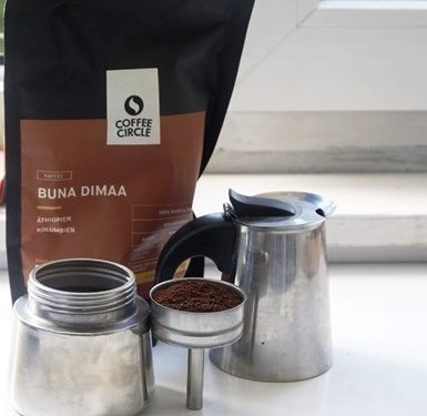 Buna Dimaa i kawiarka Venus od Bialetti.