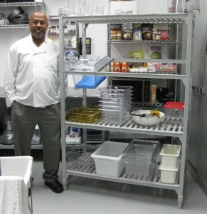 Tony with Camshelving - Cambro Blog - Soulfully Delicious