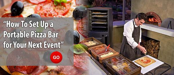 Portable Pizza Bar Set-up