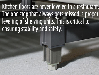 Shelving Leveling Tip