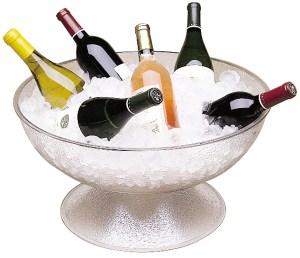 Pedestal Bowl no background wine
