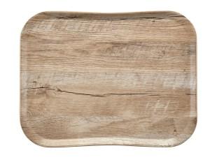 Plain Century Wood Grain Tray in Light Oak