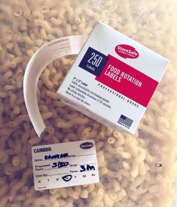 storesafe label on macaroni