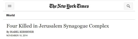 nyt headline  four killed synagogue attack.jpg