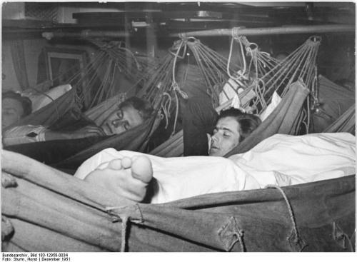 best camping hammock - Sailors Sleeping In Hammocks On A Ship
