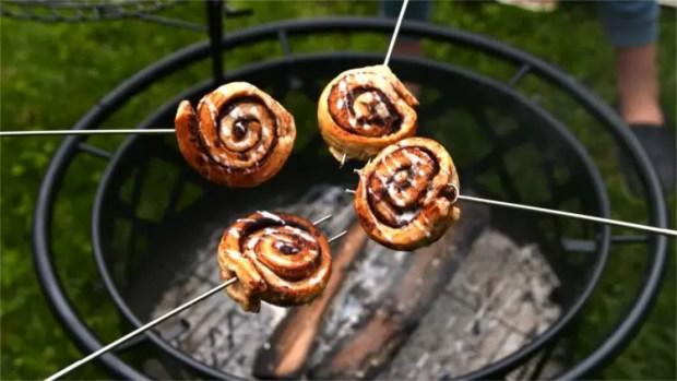 Delicious Dutch Oven Cinnamon Roll Twists