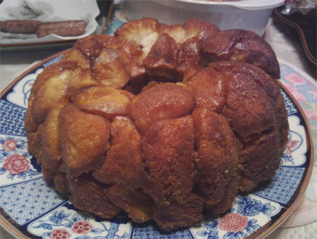 Cast Iron Dutch Oven Monkey Bread Made While Camping