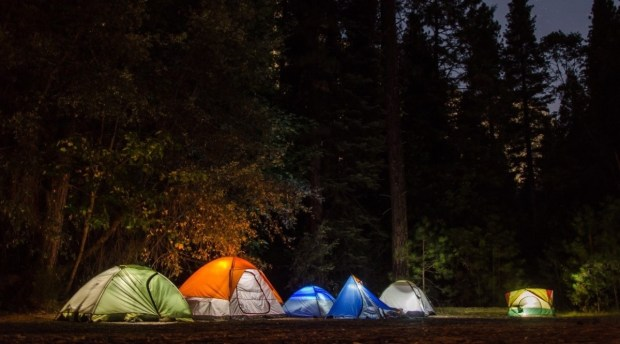 best camping lights while tent camping in the woods