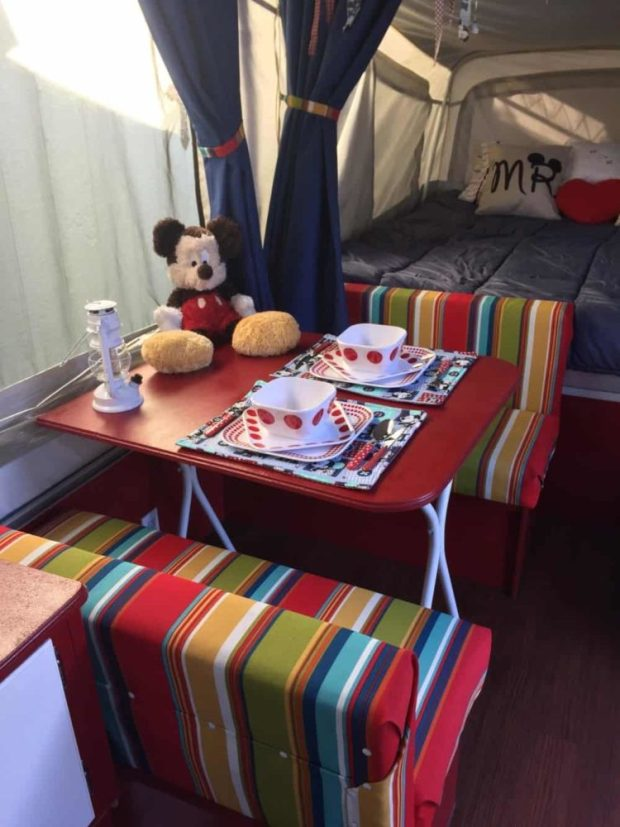 disney pop up camper remodel - after