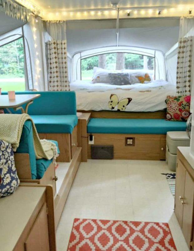 pop up camper remodel - after