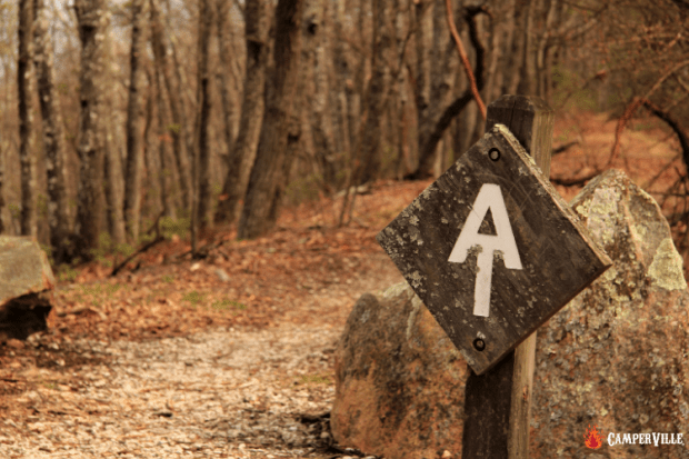 Best Thru Hike in the USA - Appalachian Trail Symbol Marker