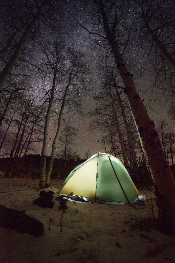 winter camping in a tent hacks