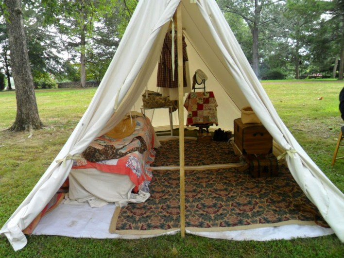 Civil War Reenactment Camping