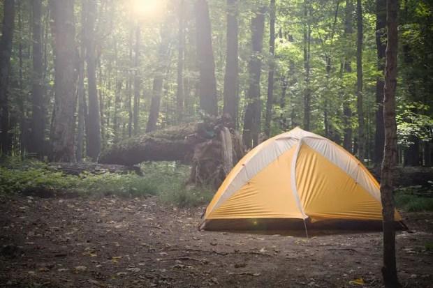 best camping in Michigan - Tahquamenon Falls State Park
