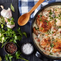 Chicken fricassee - dutch oven camping recipes