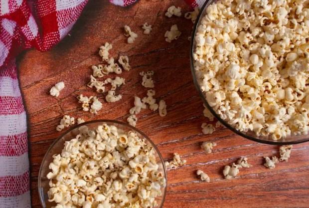making popcorn while camping