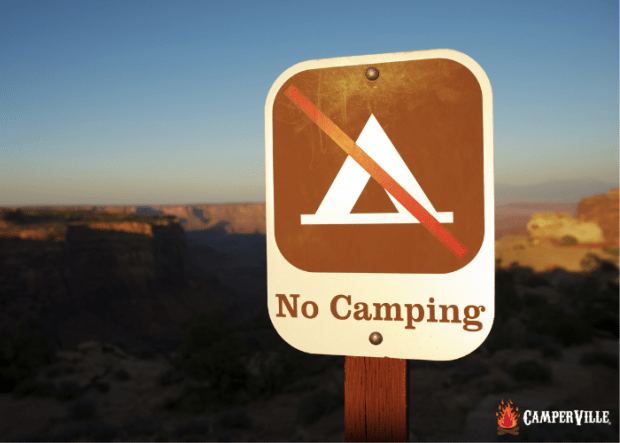 Camping Etiquette 101 - Camp Only In Designated Areas