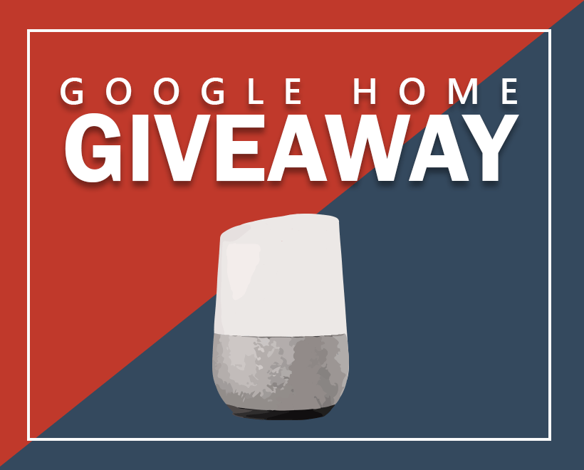 Google Home Giveaway Web Hosting