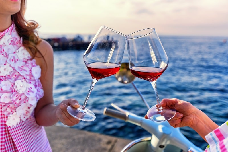 vino rosato rosé chiaretto