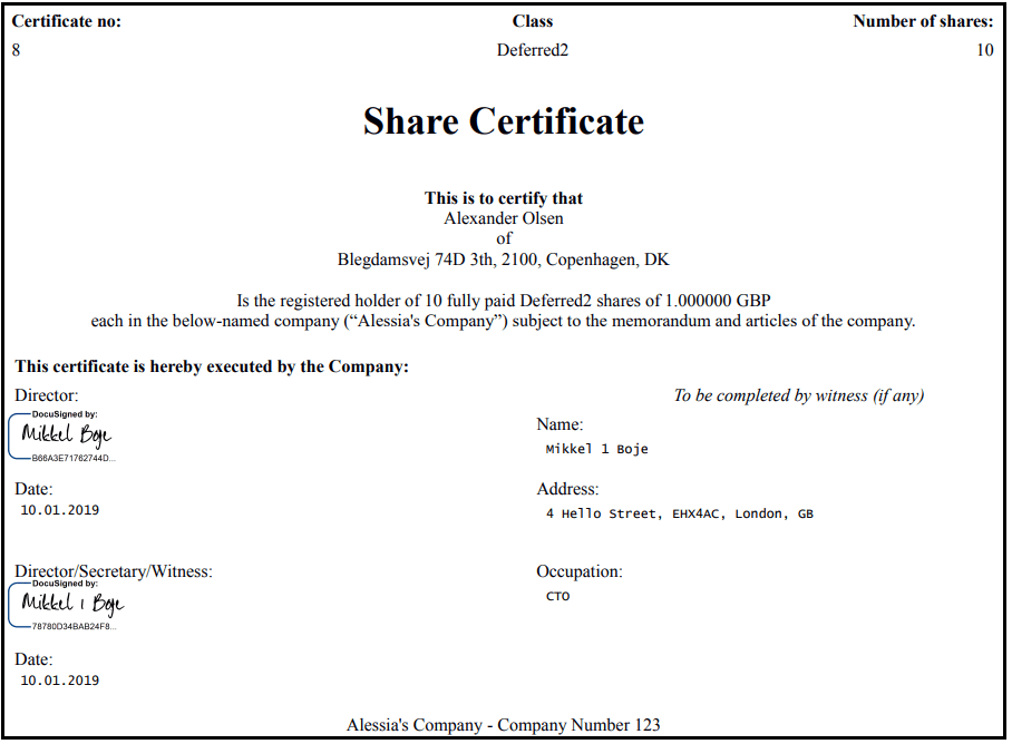 How To Issue Share Certificates Without Using A Single Piece