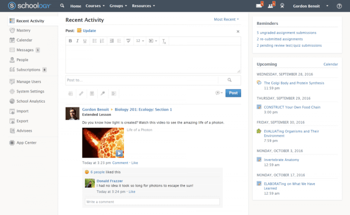 A course in Schoology