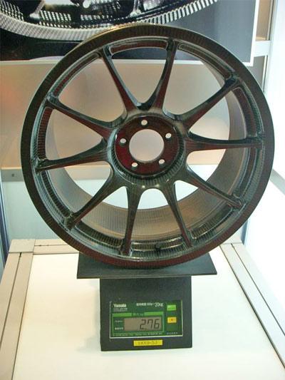 Carbon fiber wheel weight