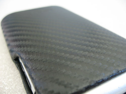 Case-Mate carbon fiber leather closeup