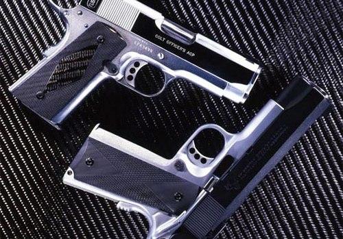 Carbon fiber gun grips