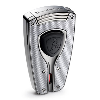 Tonino Lamborghini Forza silver carbon fiber lighter