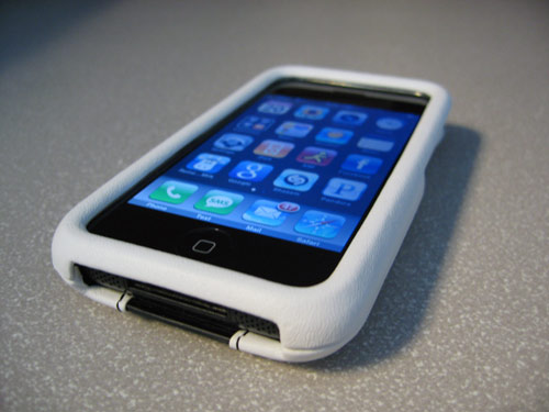 ION carbon fiber and leather iphone case