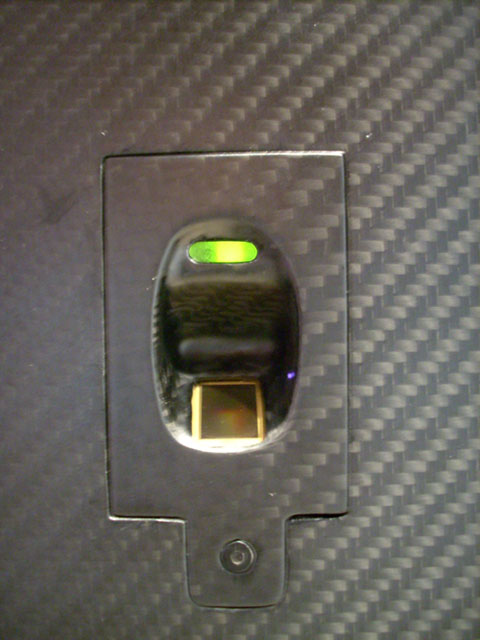 Carbon fiber biometric finger print scanner