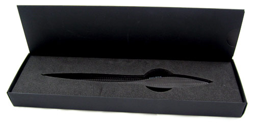 Purisme carbon fiber letter opener in box