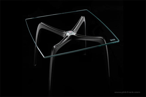 PFD carbon fiber spyder table