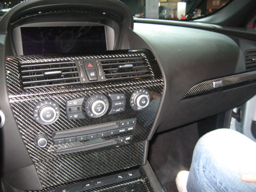 BMW M6 carbon fiber interior