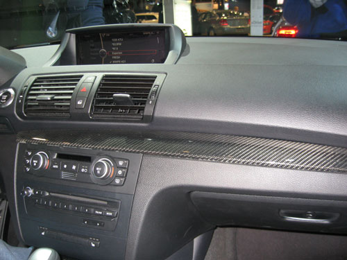 BMW 135i carbon fiber interior