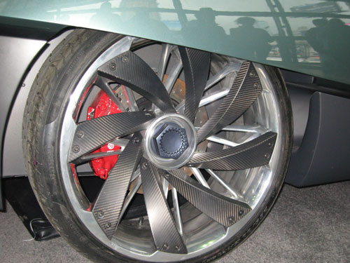 Carbon fiber wheel on BAT 11