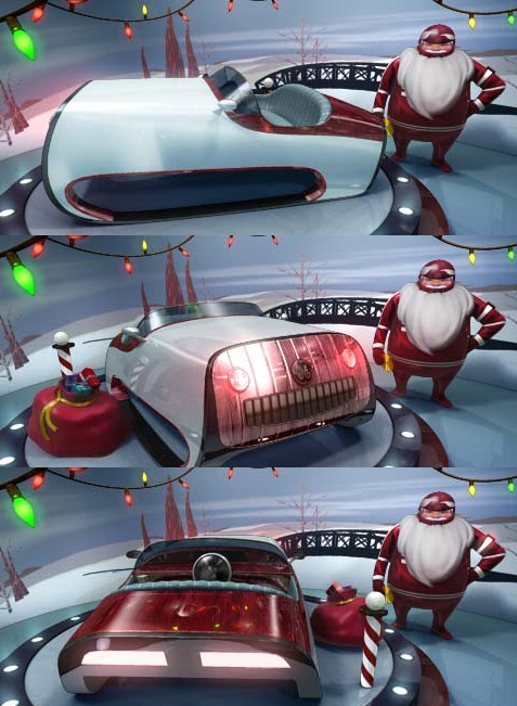 Santa Sleigh Concept Gets Pimped Out With Carbon Fiber