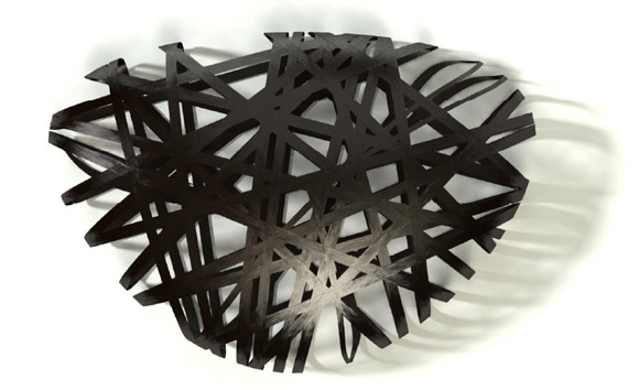 Carbon fiber stone bench from Peter Donders