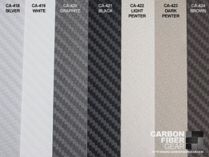 Colors of 3M carbon fiber DI-NOC film material