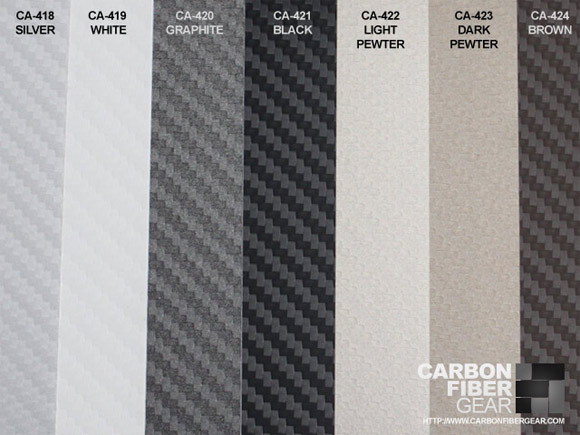 Colors of 3M carbon fiber DI-NOC film material