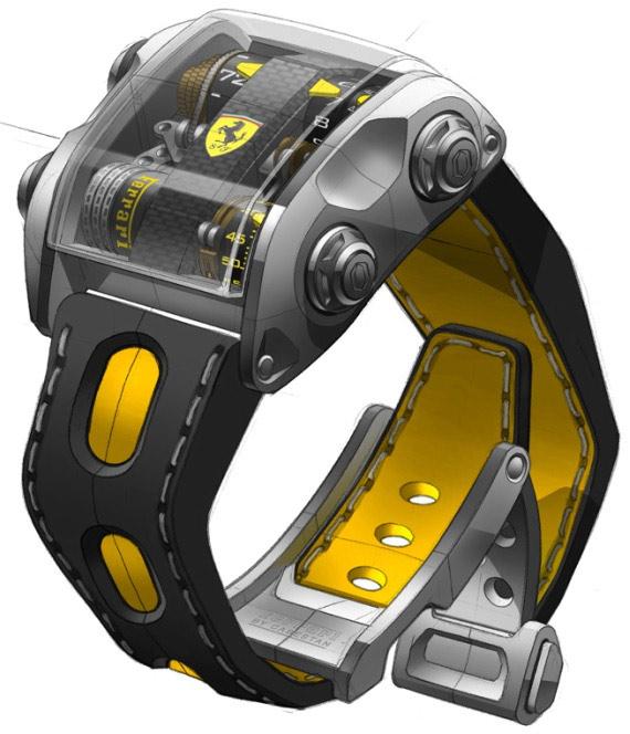 Cabestan Scuderia Ferrari One carbon fiber watch