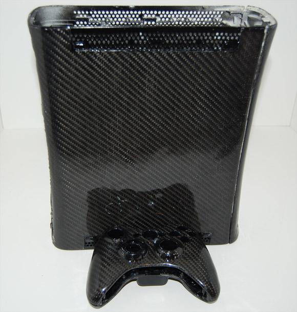 Custom carbon fiber xBox 360