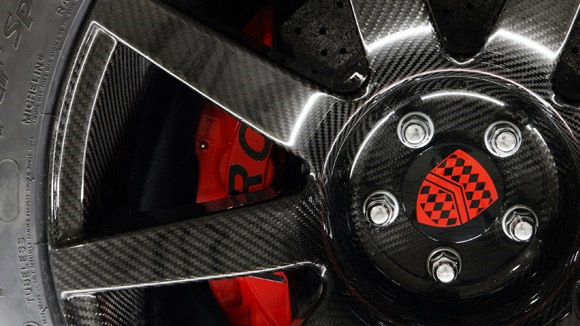 Carbon fiber wheel on the next generation SSC Ultimate Aero II supercar